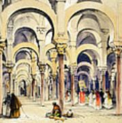 Mosque At Cordoba, From Sketches Art Print