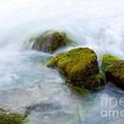 Mossy Rocks Art Print