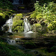 Mossy Rocks Waterfall 1 Art Print by Roger Snyder