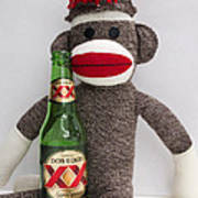 Most Interesting Sock Monkey In The World Art Print by William Patrick