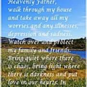 Most Powerful Prayer With Irises Art Print