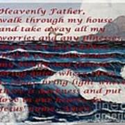 Most Powerful Prayer With Ocean Waves Art Print