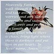 Most Powerful Prayer With Rosebud Art Print