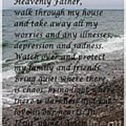 Most Powerful Prayer With Seascape Art Print