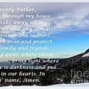 Most Powerful Prayer With Winter Scene Art Print