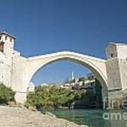 Mostar Bridge In Bosnia Art Print