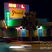 Motel Grand Art Print