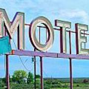Motel Sign - Arrow Art Print