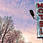Motel Sign Art Print