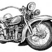 Motercycle Drawing Art Sketch - 4 Art Print