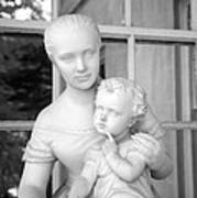 Mother And Child Statue Art Print