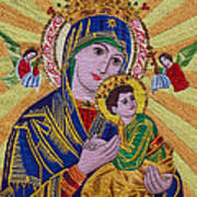 Mother And Child Hand Embroidery Art Print by To-Tam Gerwe