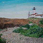 Mother Ann And Eastern Point Light Art Print