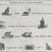Mother Goose In Hieroglyphics, 1855 Art Print