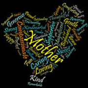 Mother In 100 Words Art Print by Mitchell Nick