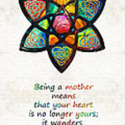 Mother Mom Art - Wandering Heart - By Sharon Cummings Art Print
