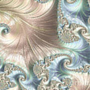 Mother Of Pearl - A Fractal Abstract Art Print