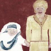 Mother Teresa And Princess Diana In Heaven 3 Art Print