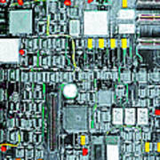Motherboard Abstract 20130716 Square Art Print
