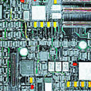 Motherboard Abstract 20130716 Art Print