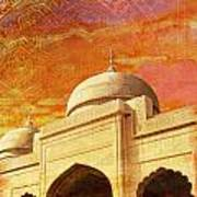Moti Masjid Art Print by Catf