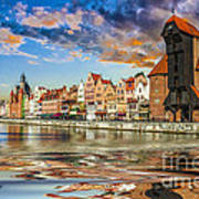Gdansk Motlawa River- Poland Art Print