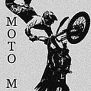 Moto Man Art Print