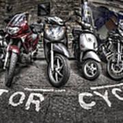 Motor Cycles Art Print