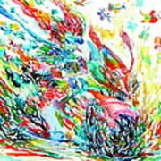 Motor Demon With Butterflies Art Print
