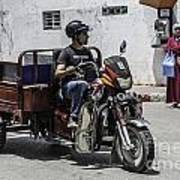 Motorbike Marocco Art Print