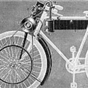 Motorcycle, 1898 Art Print