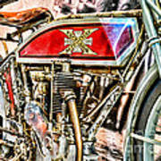Motorcycle - 1914 Excelsior Auto Cycle Art Print