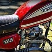 Motorcycle - 1974 Honda Cl 125 Scrambler Art Print