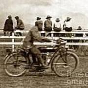 Motorcycle At Salinas California Rodeo Grounds Circa 1910 Art Print