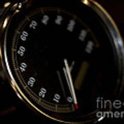Motorcycle Speedometer Art Print