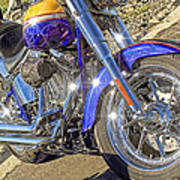Motorcycle Without Blue Frame Art Print