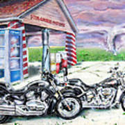 Motorcycles Art Print by Chris Dreher