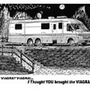 Motorhome Viagra Moonlight R V Camping Art Print