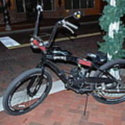 Motorized Bicycle Art Print