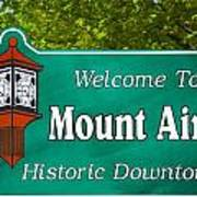 Mount Airy Sign Nc Art Print