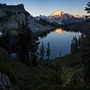 Mount Baker Chain Lakes Awakening Art Print