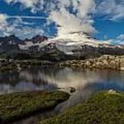 Mount Baker Skies Reflection Art Print