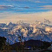 Mount Baldy On A New Years Eve Art Print