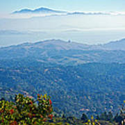 Mount Diablo From Mount Tamalpias-california Art Print