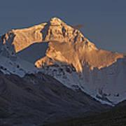 Mount Everest At Dusk Art Print