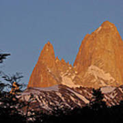 Mount Fitz Roy At Sunrise Art Print