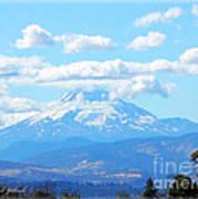Mount Hood In The Clouds Art Print