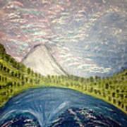 Mount Hood Night Sky Art Print