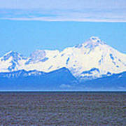 Mount Iliamna Across Cook Inlet From Ninilchik-alaska Art Print