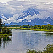 Mount Moran From Oxbow Bend N Grand Teton National Park-wyoming Art Print